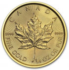 1/4 oz maple leaf 2018