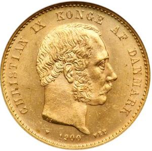 20 couronnes or christian IX