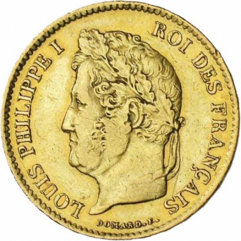 40 francs or louis philippe