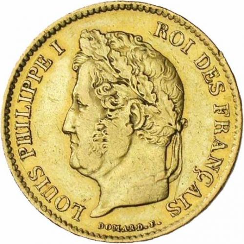 40 Francs Or Louis Philippe Acheter Or Et Argent Achat Piece Et
