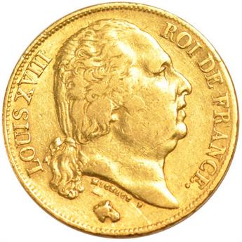 20 Francs Or Louis Xviii Buste Nu Acheter Or Et Argent Achat Piece