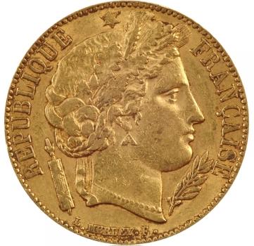20 Francs Or Ceres Acheter Or Et Argent Achat Piece Et Lingot D Or